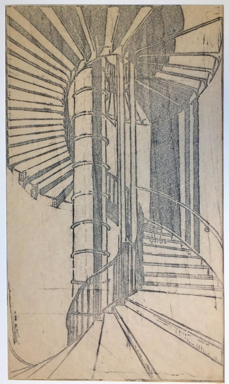 TUBE STAIRCASE - Modern Print by Cyril Power