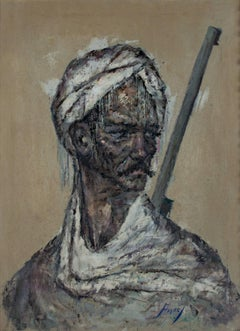 """""""Portrait of a Soldier from Tehran"""" Original Oil Painting signed by Cyrus Afsary"""