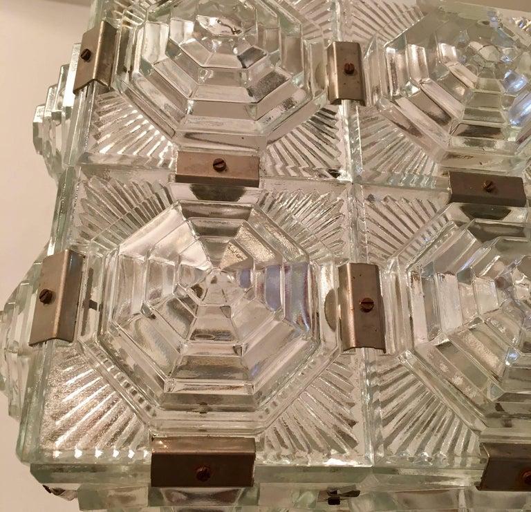 Czech 1960 Crystal Pendant Kamenicky Senov For Sale 5