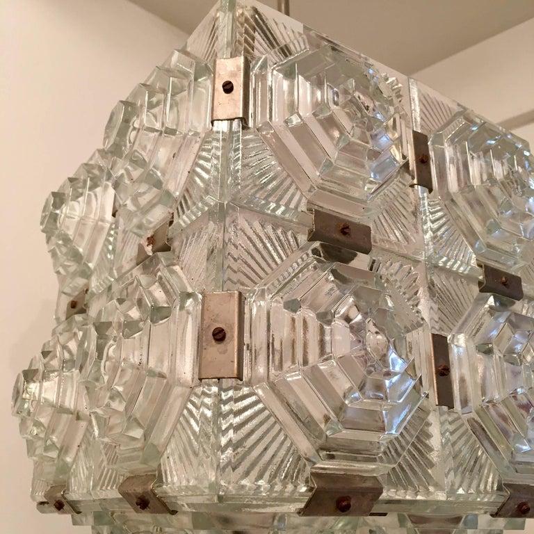 Czech 1960 Crystal Pendant Kamenicky Senov For Sale 1