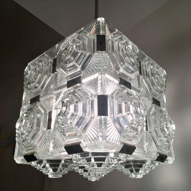 Czech 1960 Crystal Pendant Kamenicky Senov For Sale 3
