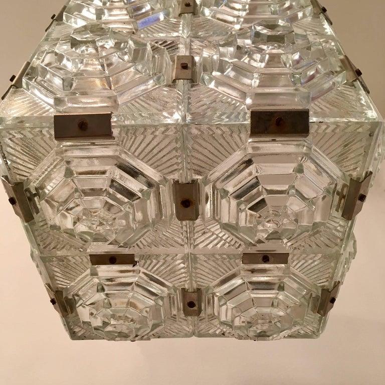 Czech 1960 Crystal Pendant Kamenicky Senov For Sale 4