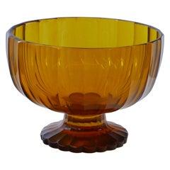 Czech Art Deco Cut Crystal Bowl