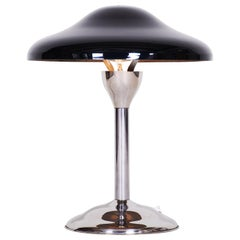 Czech Black Bauhaus Lamp, Architect Frantisek Anyz, Restored and Electrified