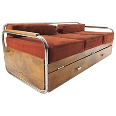 Czech Chrome Art Deco Sofa by Robert Slezak of the 1930s