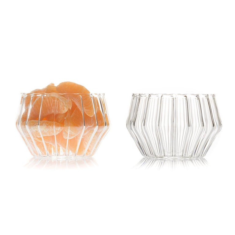 Mixed small bowl  With a special technique, the Mixed collection combines two types of glass to create this modern collection. Retro yet contemporary it is perfect for everyday beverages, cocktails, or beer. The Mixed will enrich any occasion.