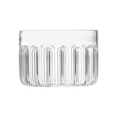 EU Clients Czech Contemporary Minimal Bessho Large Glass Bowl Handmade, in Stock
