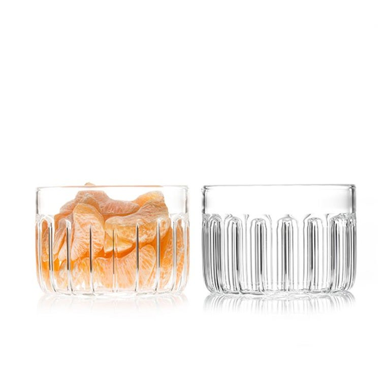 Bessho large bowl  Just as the small town is known for the healing properties of its hot springs, so are the evenings we spend with good friends. The Bessho Collection is elegant in its simplicity of form and use of glass. Perfect for any beverage