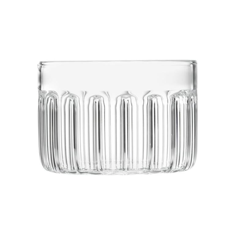 Czech Contemporary Minimal Bessho Large Glass Bowl Handmade, in Stock For Sale