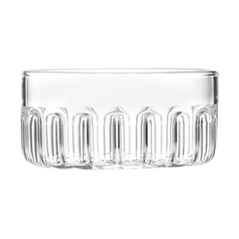 Eu Clients Contemporary Minimal Bessho Medium Glass Bowl Handmade, in Stock For Sale