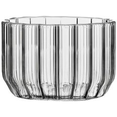 EU Clients Contemporary Minimal Dearborn Large Glass Bowl Handmade, in Stock
