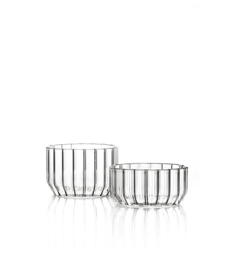 Modern EU Clients Contemporary Minimal Dearborn Medium Glass Bowl Handmade, in Stock For Sale