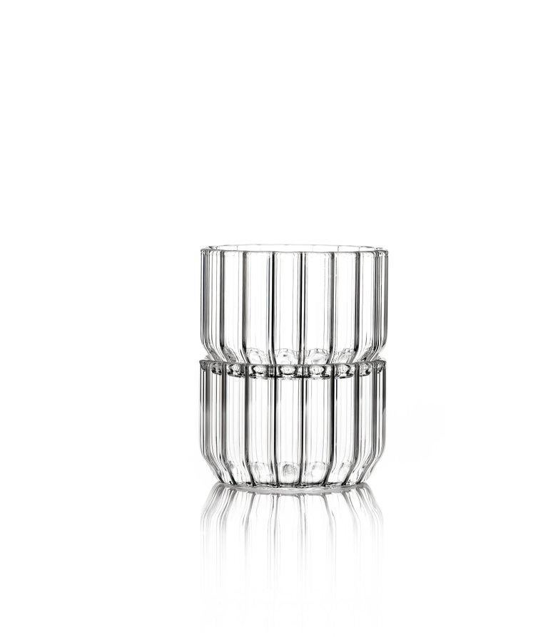 Czech EU Clients Contemporary Minimal Dearborn Medium Glass Bowl Handmade, in Stock For Sale
