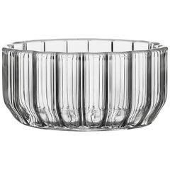 EU Clients Contemporary Minimal Dearborn Medium Glass Bowl Handmade, in Stock