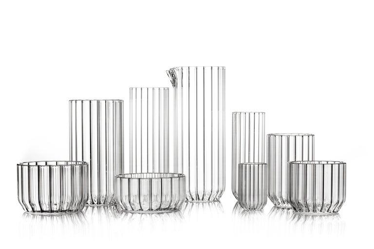 Modern Czech Contemporary Minimal Dearborn Medium Glass Bowl Handmade, in Stock For Sale