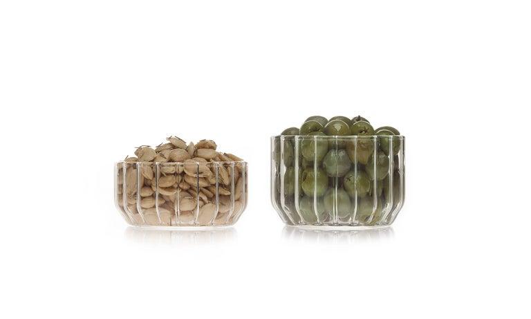 Czech Contemporary Minimal Dearborn Medium Glass Bowl Handmade, in Stock For Sale 1