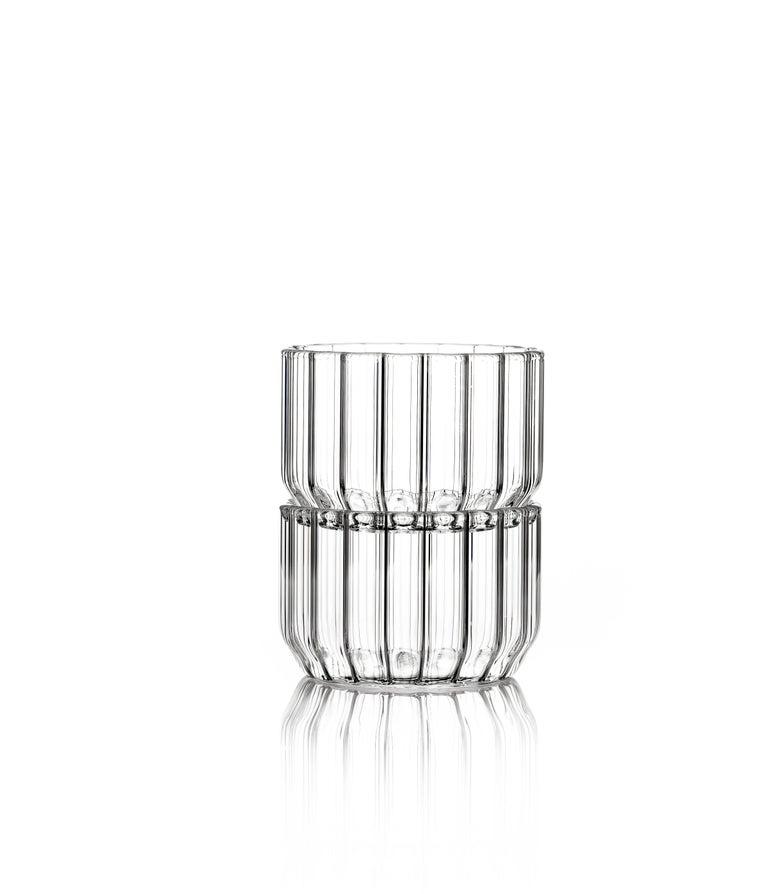 Czech Contemporary Minimal Dearborn Medium Glass Bowl Handmade, in Stock For Sale 3