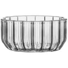 Czech Contemporary Minimal Dearborn Medium Aperitif Glass Bowl Handmade in Stock