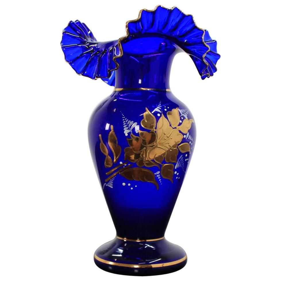 Czech Glass Vase by Novoborské Sklo, 1970s