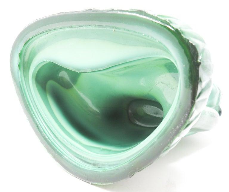 Czech Malachite Glass Buddha Sculpture, Schlevogt Hoffmann For Sale 10