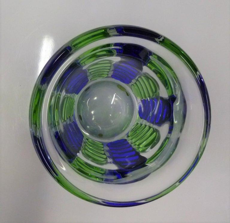 Czech Modern Blown Glass Vase by Ježek Pavel, Czechoslovakia, 1975 In Good Condition For Sale In Miami, FL