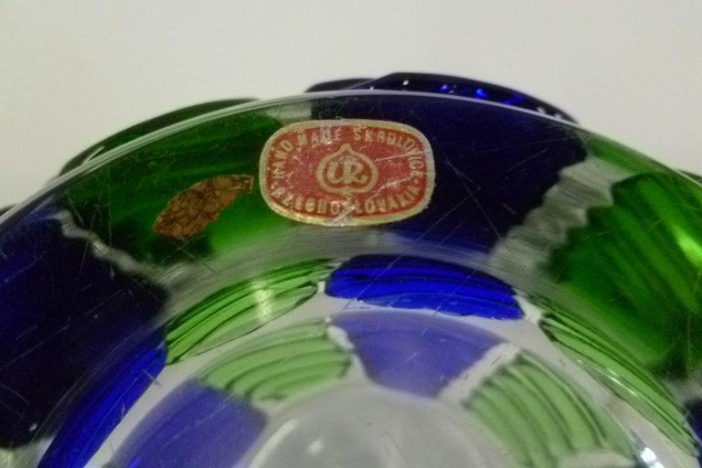 Czech Modern Blown Glass Vase by Ježek Pavel, Czechoslovakia, 1975 For Sale 2