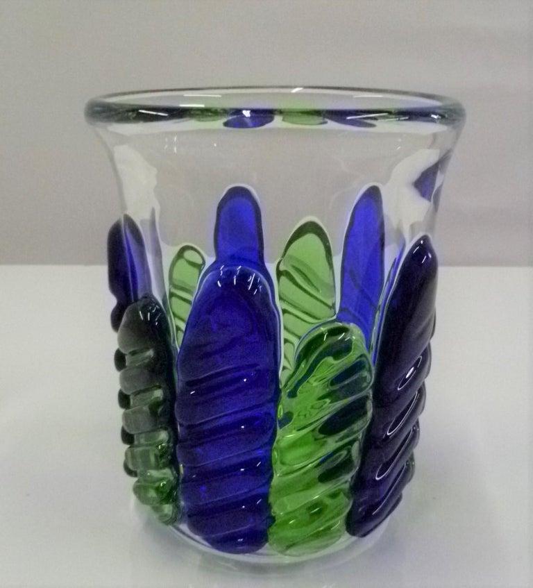 Czech Modern Blown Glass Vase by Ježek Pavel, Czechoslovakia, 1975 For Sale 4