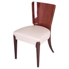 Czech Restored Mahogany Art Deco Chair Designed by Jindrich Halabala, 1940-1949