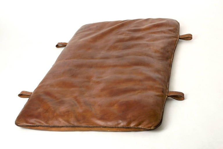 Industrial Czech Vintage Leather Gym Mat, 1930s For Sale