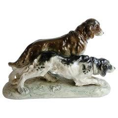 Czechoslovakian Hunting Dog Ceramic 'Karl Klimt'