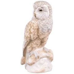 Czechoslovakian Porcelain Owl, Amphora, circa 1900