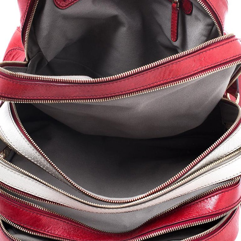 D and G Red Leather Lily Duffle Bag For Sale 5