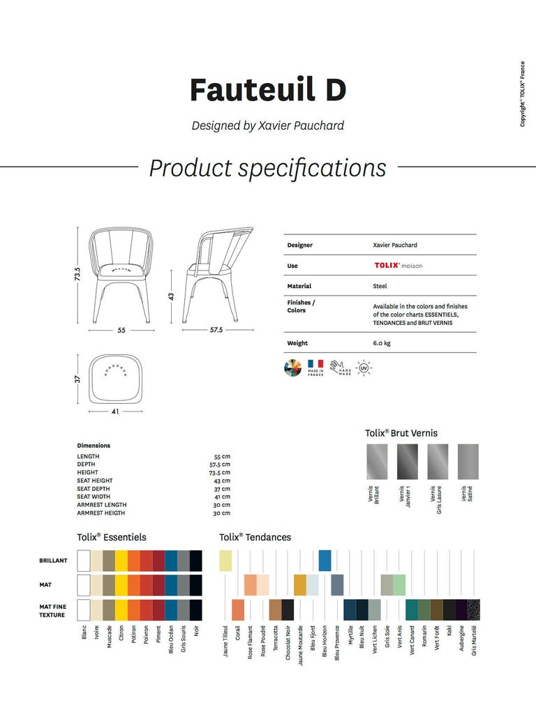 D-Armchair in Pop Colors by Xavier Pauchard & Tolix In New Condition For Sale In Autun, FR