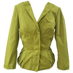 D. Exterior green jacket