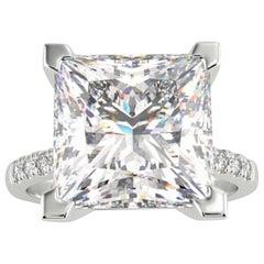 D Flawless GIA Certified 5.02 Carat Princess Cut Diamond