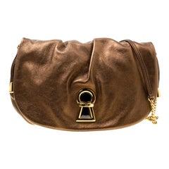 D & G Bronze Leather Vlada Shoulder Bag