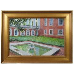D is for Dauden Fountain East Courtyard Richmond Virginia by Edward Thomas
