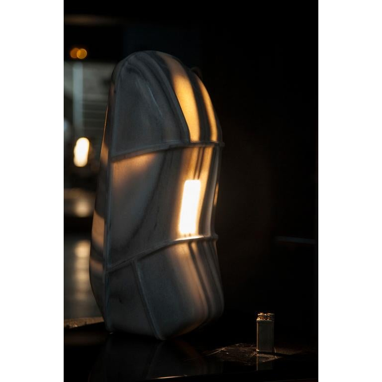 Modern D Lamp marble by Thierry Dreyfus For Sale