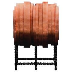 D. Manuel Cabinet in Copper Leaf with Black Translucid Color