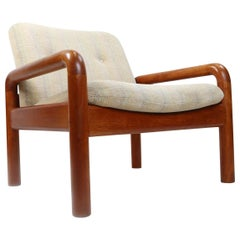 D-Scan Vintage Solid Teak Danish Modern Lounge Chair