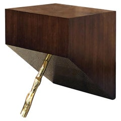 D/Zen Square Coffee Table Gold and Brown by CtrlZak