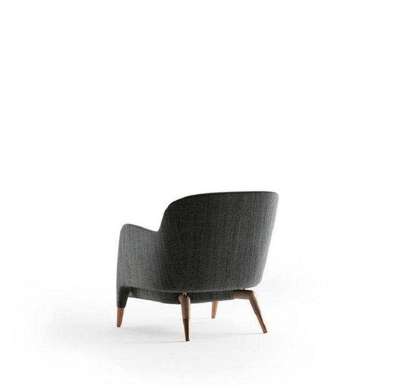 Modern Molteni&C D.151.4 Armchair Gio Ponti Design Grey Fabrics For Sale