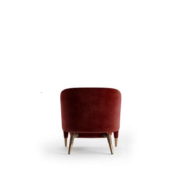 Italian Molteni&C D.151.4 Armchair Gio Ponti Design Red Velvet For Sale