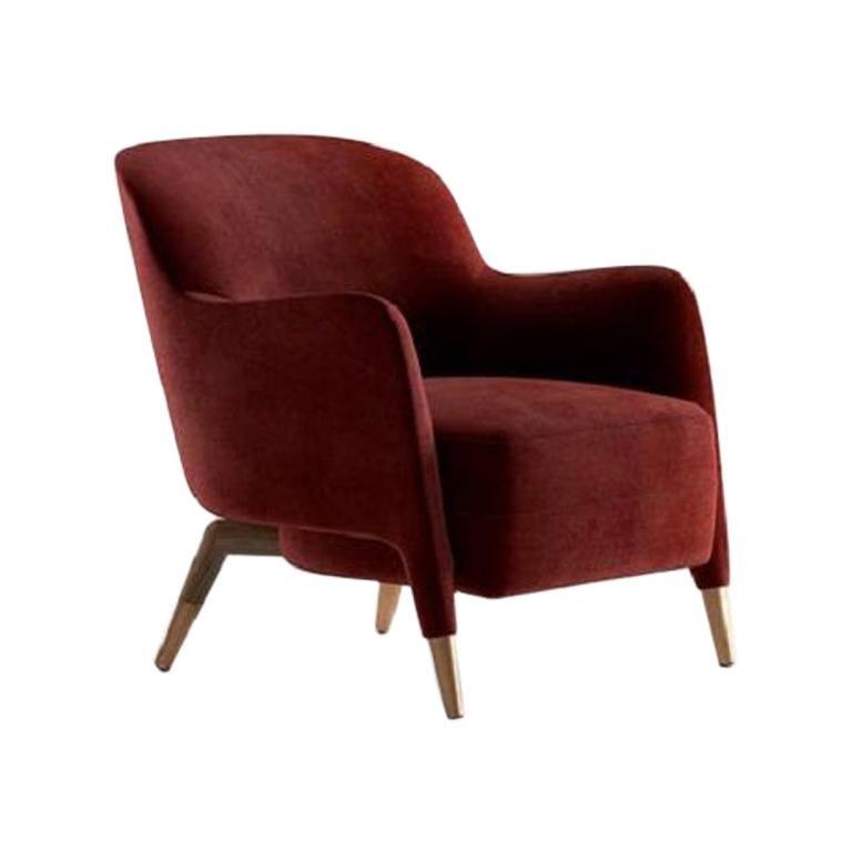 Molteni&C D.151.4 Armchair Gio Ponti Design Red Velvet For Sale