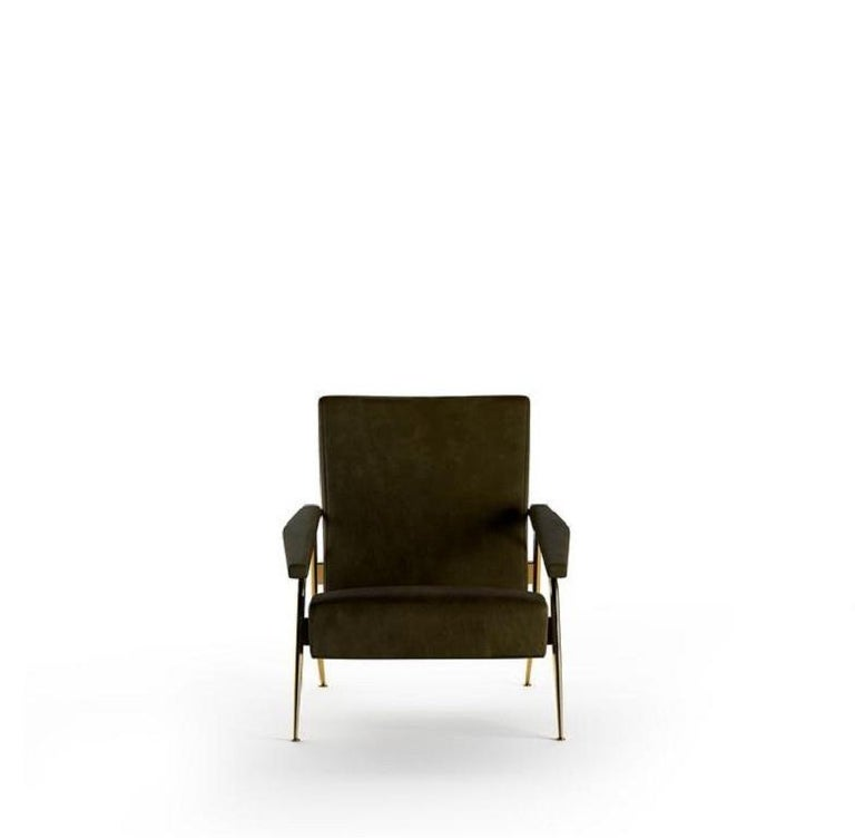 Molteni&C D.153.1 Armchair Design Gio Ponti Black Scirocco Leather In New Condition For Sale In New York, NY