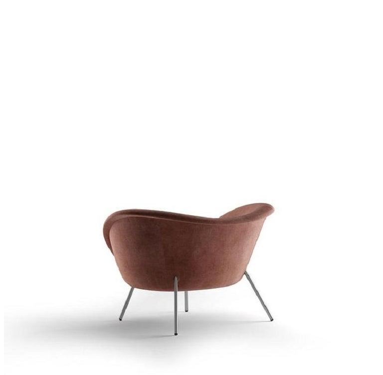 Modern Molteni&C D.154.2 Armchair Gio Ponti Design Velvet  For Sale