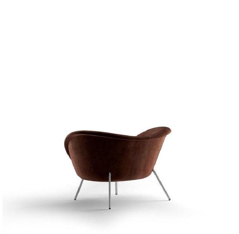 Modern Molteni&C D.154.2 Armchair Gio Ponti Design Brown Velvet For Sale