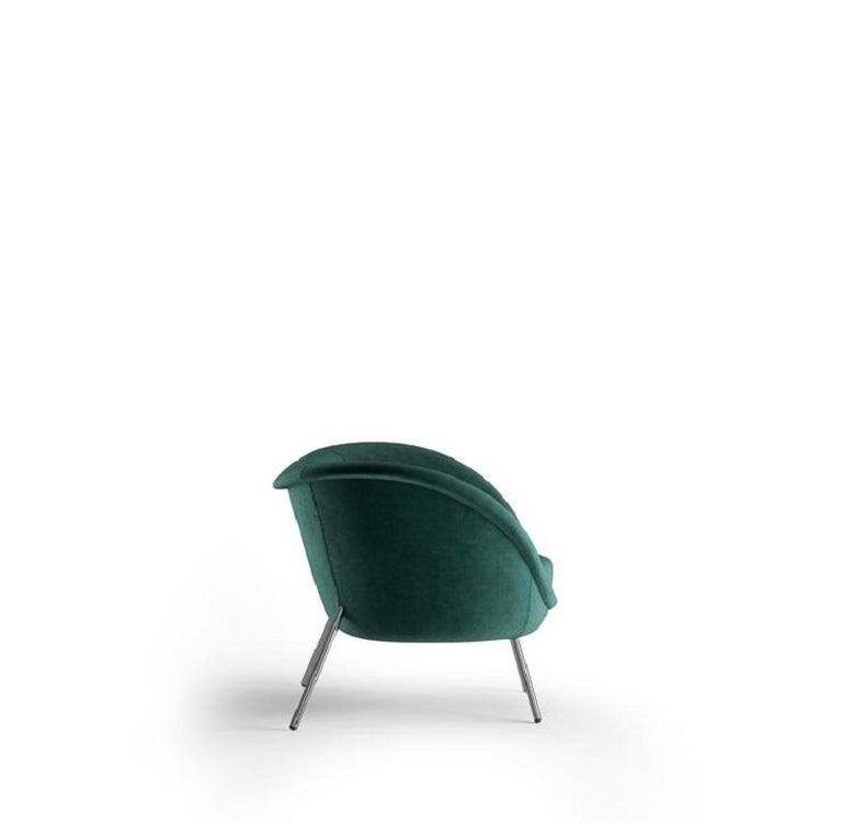 Modern Molteni&C D.154.2 Armchair Gio Ponti Design Green Velvet For Sale