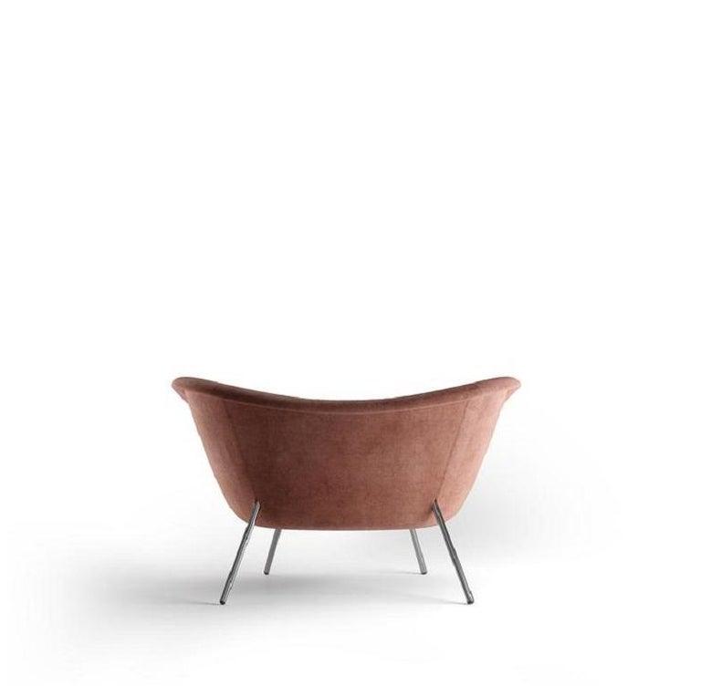 Italian Molteni&C D.154.2 Armchair Gio Ponti Design Velvet  For Sale
