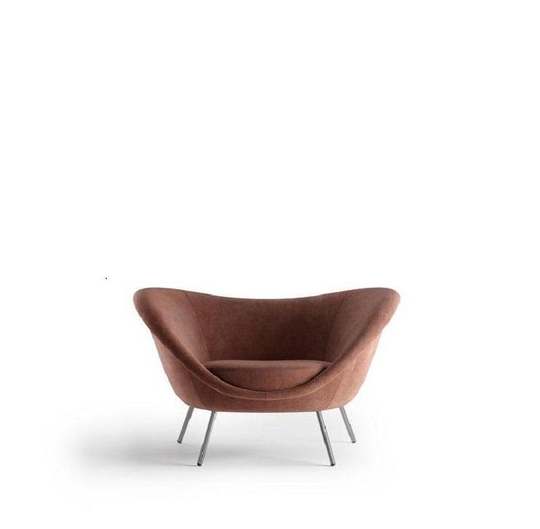 Molteni&C D.154.2 Armchair Gio Ponti Design Velvet  In New Condition For Sale In New York, NY